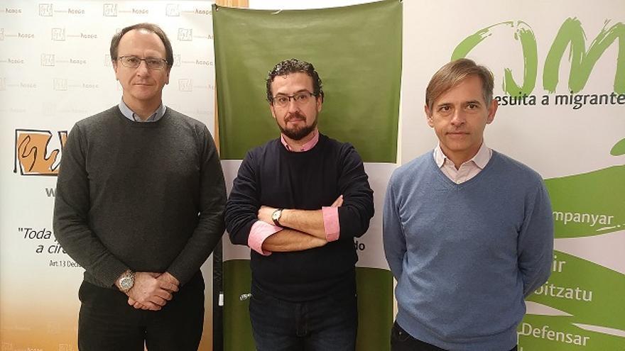 Pep Boades, José Miguel Morales y José Carlos Cabrera, en la presentación del foro
