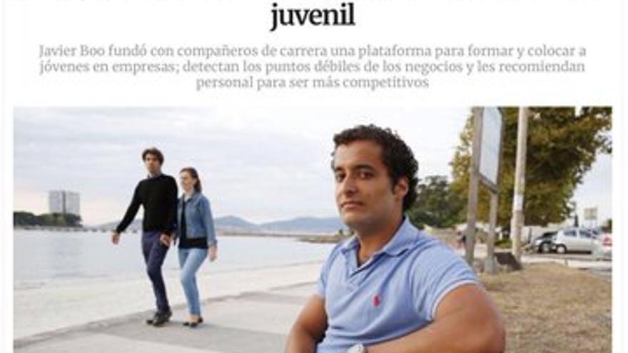 Captura de La Voz de Galicia.