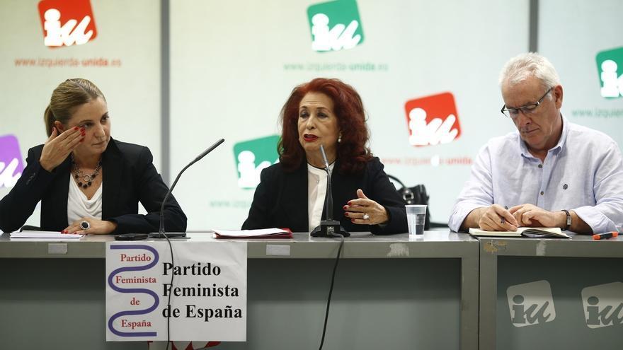 El Partido Feminista se integra formalmente en IU con la lucha contra la violencia machista entre sus prioridades