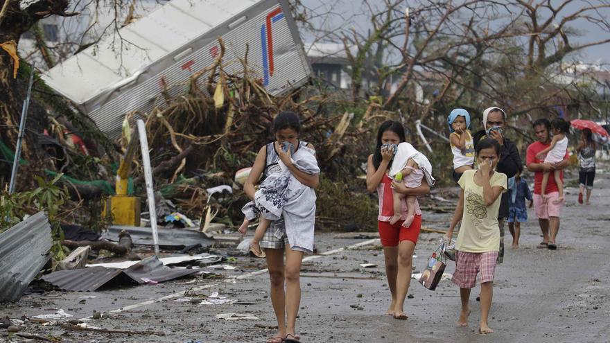 Miles de familias han perdido sus hogares a causa de Haiyan