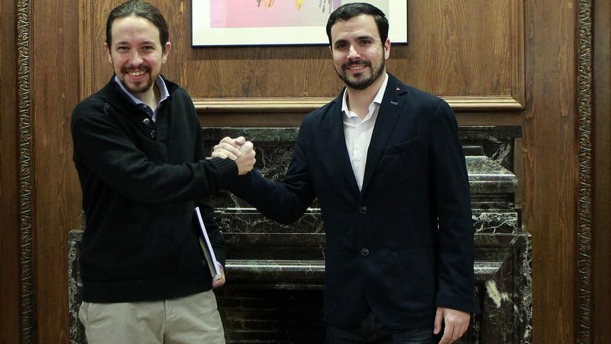 Pablo Iglesias y Alberto Garzón, en una imagen de archivo.