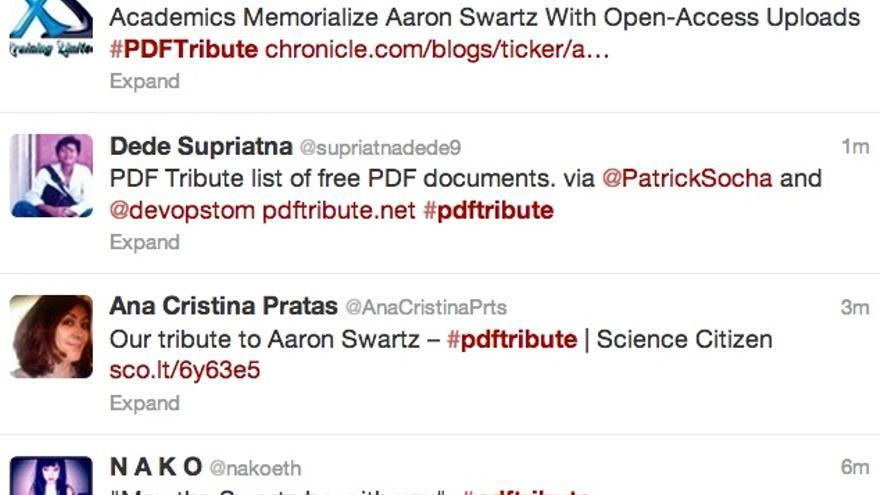 #PDFTribute, homenaje en Twitter a Aaron Swartz