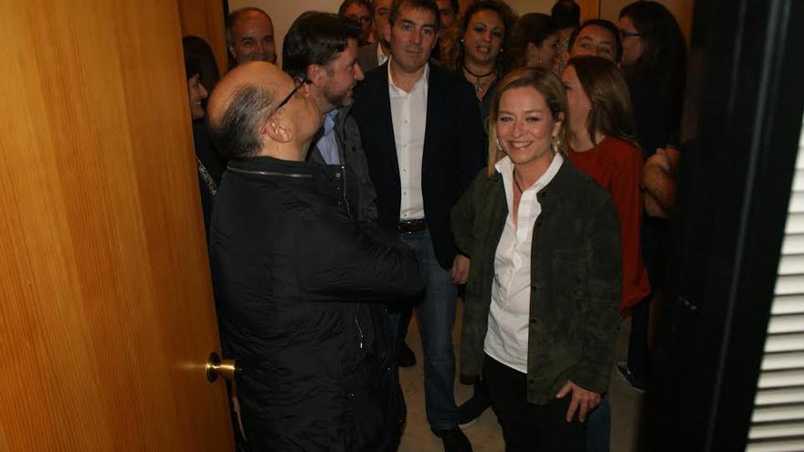 Barragán, Alonso, Julios y Clavijo, en la sede electoral de CC.