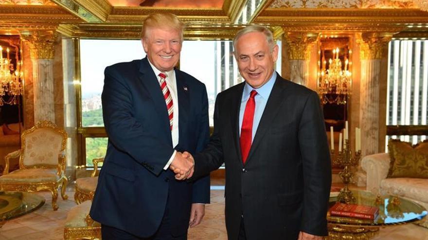 Trump y Netanyahu en el ático propiedad del primero en la Trump Tower en septiembre.