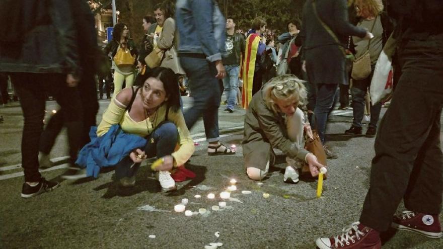 Velas en Barcelona por los condenados del procés