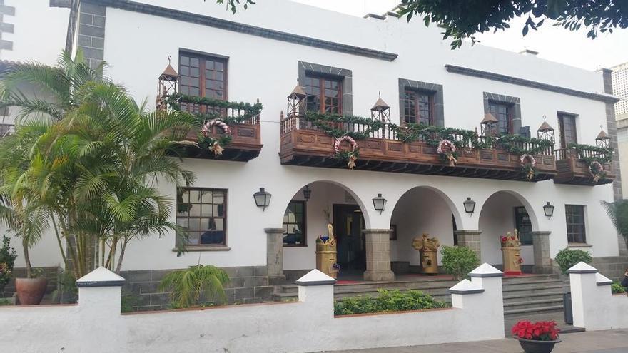 Imagen de archivo del Ayuntamiento de Los Llanos de Aridane con los tradicionales adornos navideños.