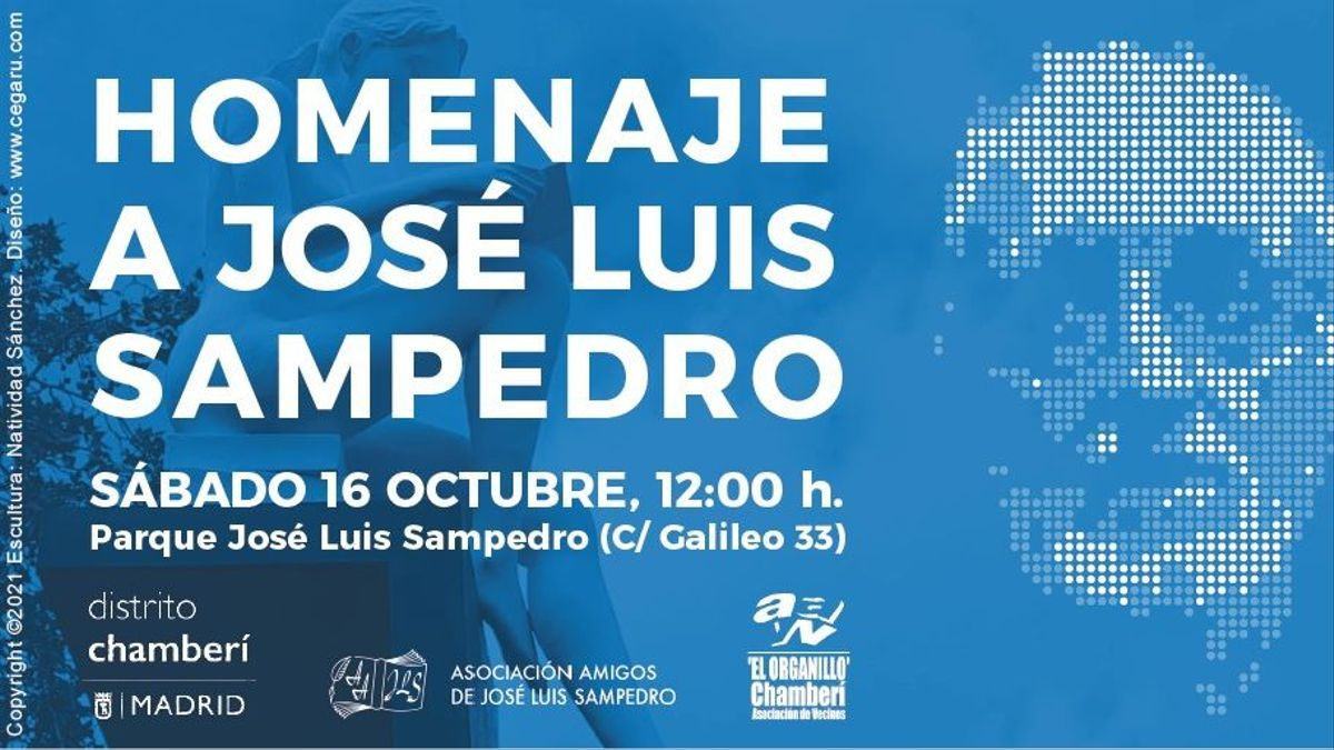 Cartel anunciador del homenaje a Sampedro