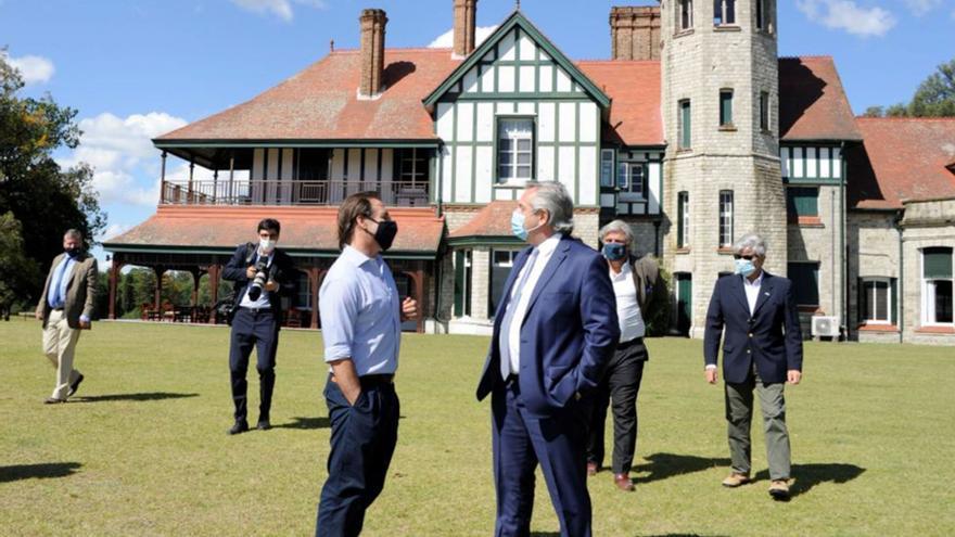 Luis Lacalle Pou y Alberto Fernández mantienen una reunión bilateral en Uruguay