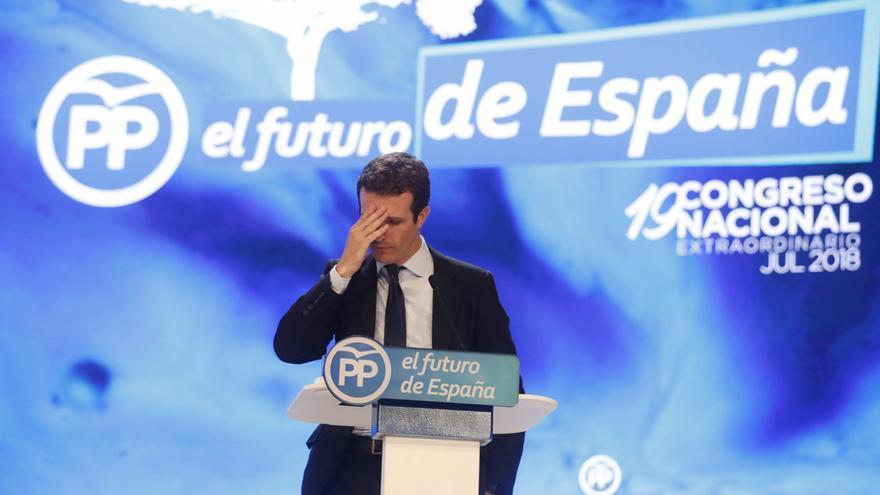 Pablo Casado, durante su discurso en el Congreso del PP
