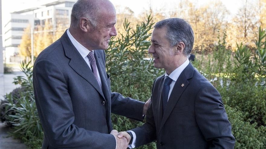 Urkullu y Rousset abordan el Plan Estratégico de la Eurorregión Aquitaine-Euskadi y cuestiones sobre el transporte