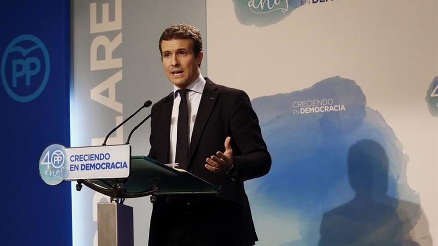 Casado:Puigdemont y Junqueras intentan forzar una confrontación en las calles