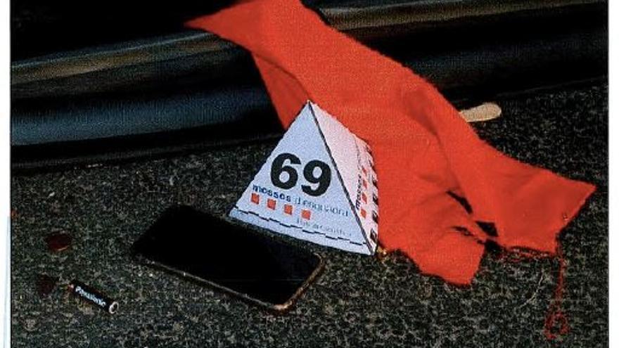 Detalle del INDICIO 69, teléfono móvil