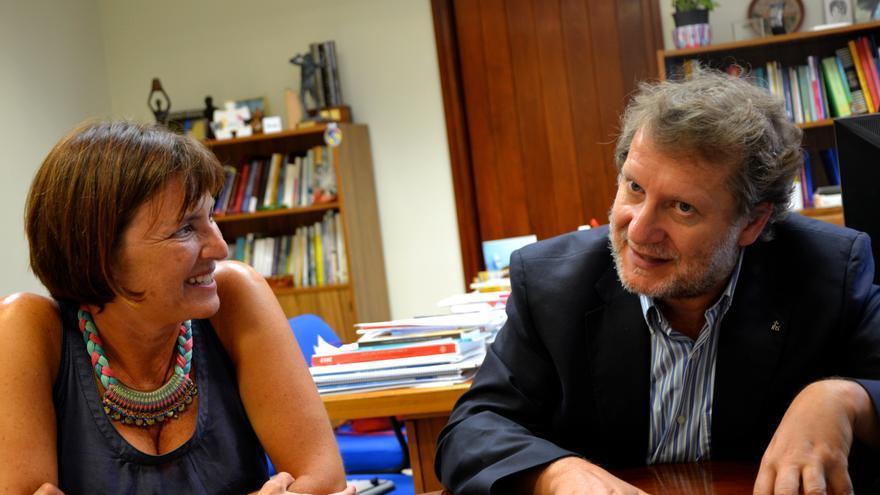 Lucas López, director de Radio Ecca y Amparo Osorio, subdirectora de Radio Ecca.