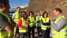 Un momento de la visita a Barranco Seco.