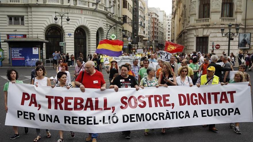 Las Marchas de la dignidad toman Valencia para mostrar la indignación social
