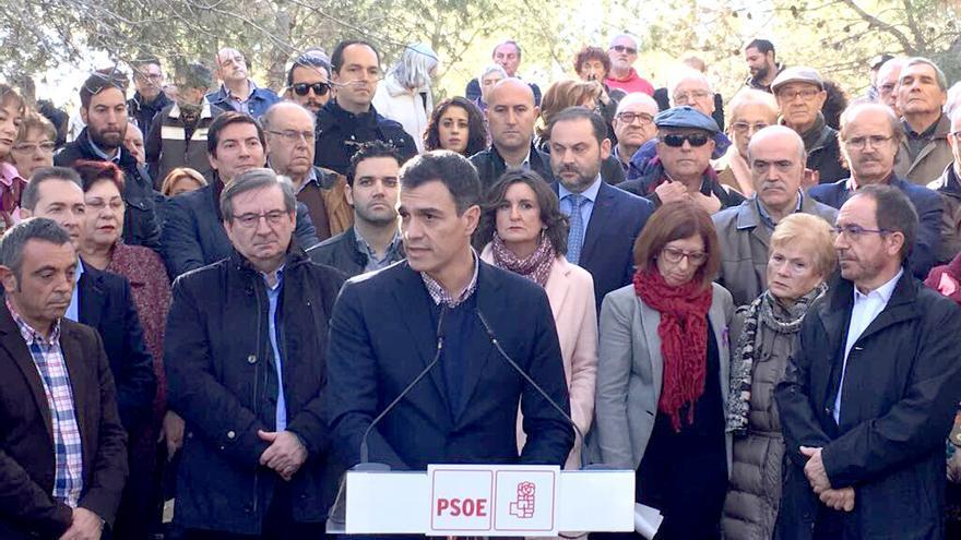 El secretario general del PSOE, Pedro Sánchez, en Paterna