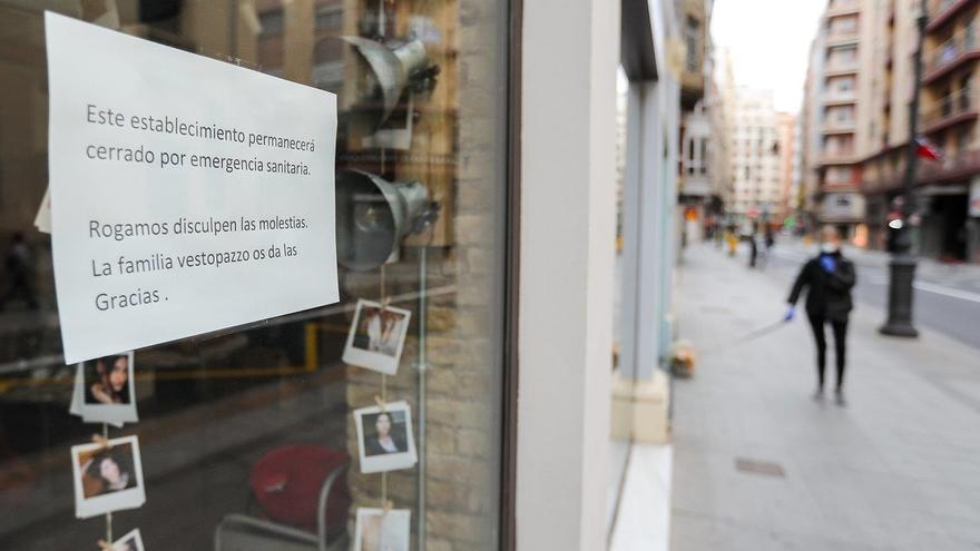 Imagen de archivo de un negocio cerrado durante la pandemia.