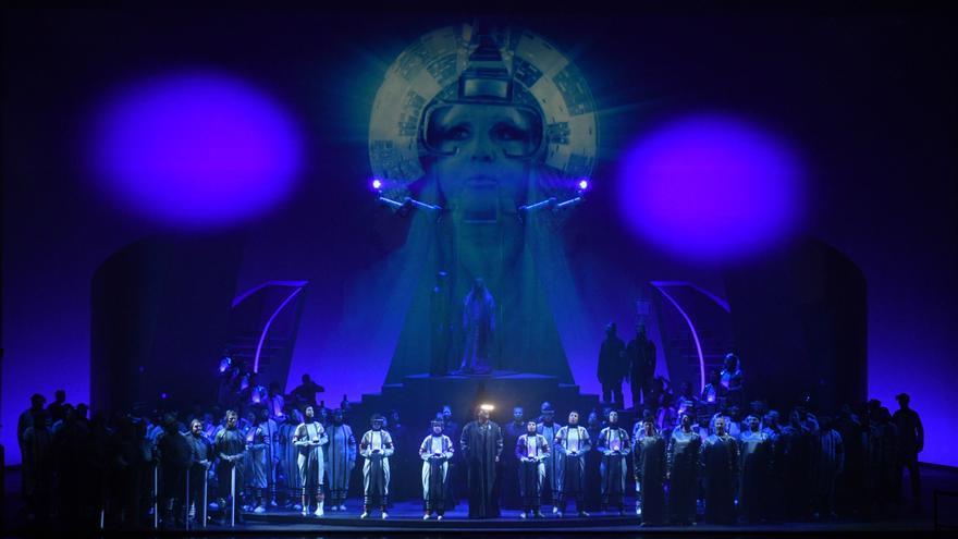 """Vista de la nueva producción de la ópera """"Turandot"""""""