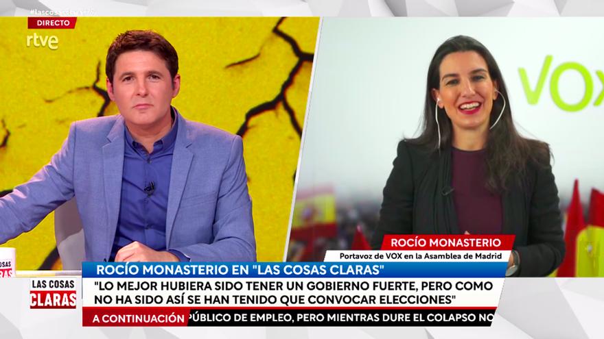 """Jesús Cintora frena a Monasterio: """"¿Ponerse los partidos de acuerdo y votar una moción no es democracia?"""""""