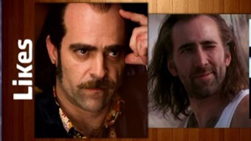 Mario Casas y Luis Tosar se rieron con su parecido a Nicolas Cage en 'Likes'