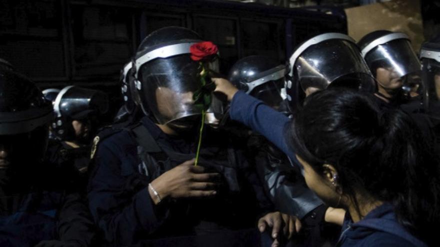 Policía durante una protesta en Ciudad de México el 19 de junio de 2017.