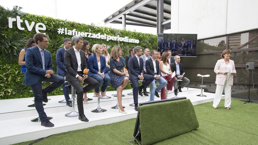 El equipo de Informativos de TVE en la presentación de la temporada
