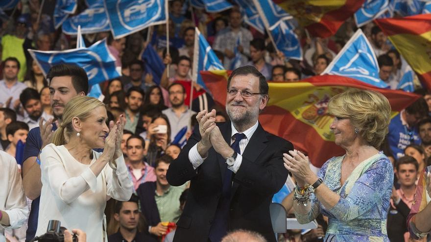 """Rajoy dice que Aguirre ha """"hecho bien"""" todas sus responsabilidades y ahora le """"toca seguir engrandeciendo Madrid"""""""