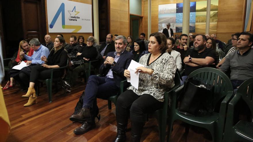 El expresidente del Gobierno de Canarias, Fernando Clavijo, este jueves durante la reunión del Comité Político de Coalición Canaria.