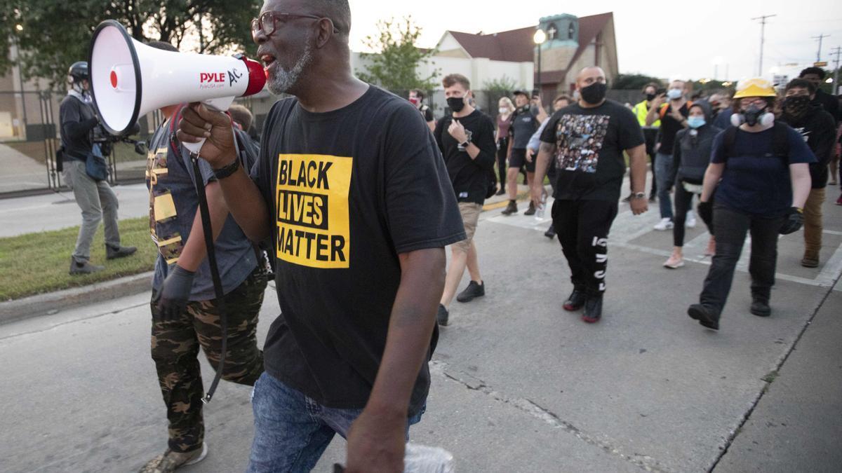 Protestas en Kenosha, Wisconsin, por el ataque policial contra el ciudadano afroamericano Jacob Blake.