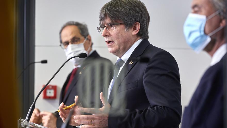 Torra, Puigdemont y Mas recelan del diálogo con el Estado y piden mediación