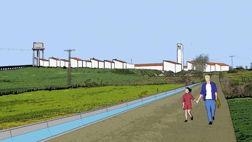 Cartel del programa 'Pueblos de Colonización: un lugar de luz', que desarrolla la Junta de Extremadura