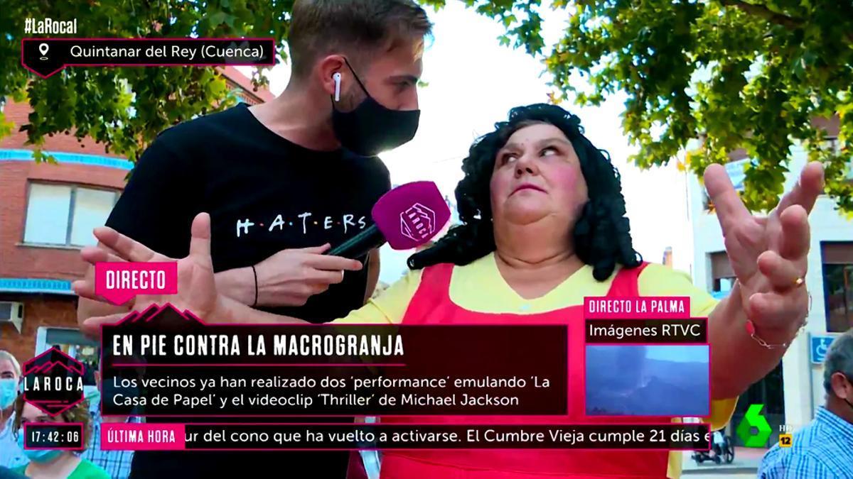 El Juego del Calamar, inspiración de una protesta en Quintanar del Rey