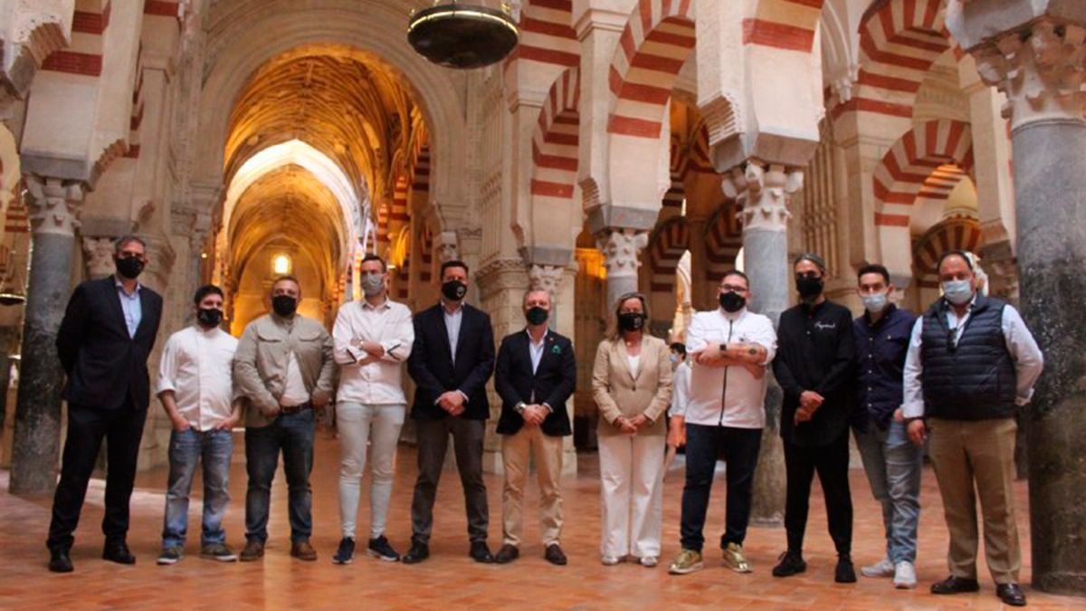 Participantes en el evento 'Córdoba Patrimonio Gastronómico' que se presentará en Fitur 2021.