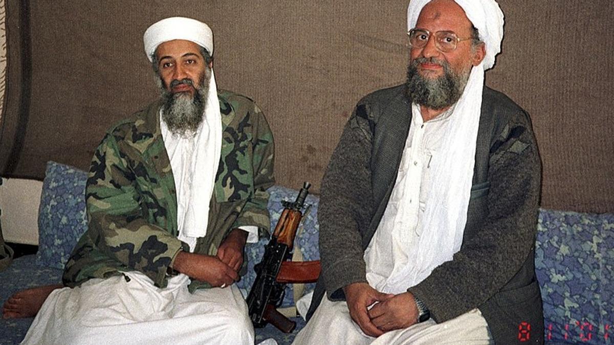 Ayman al Zawahiri con Osama bin Laden