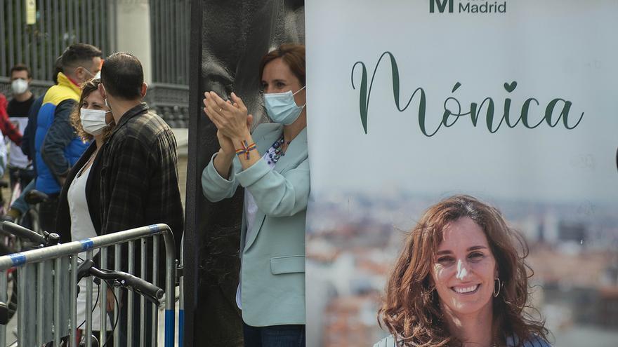 La candidata de Más Madrid a la Presidencia de la Comunidad de Madrid, Mónica García a su llegada al acto de cierre de campaña