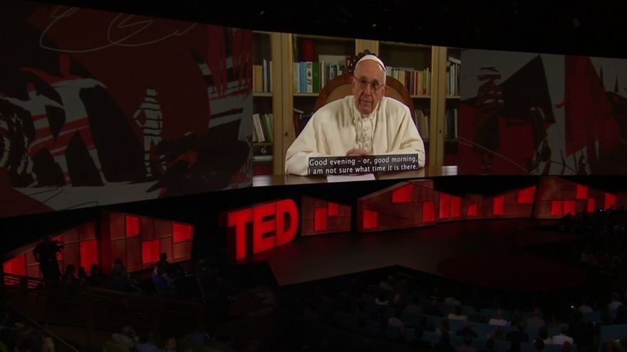 El papa Francisco en las TED Talks de Canadá