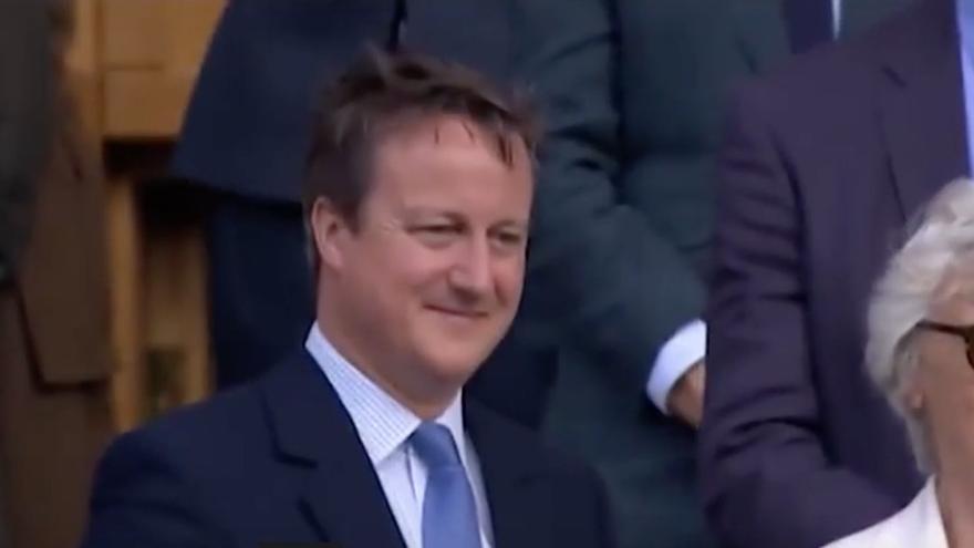 David Cameron, abucheado en Wimbledon