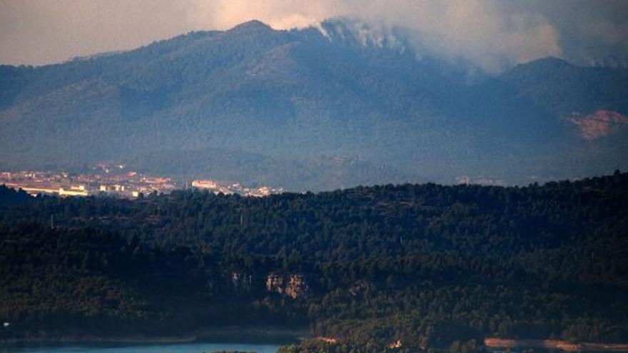 Incendio forestal en Artana. Foto: Prevención de incendios