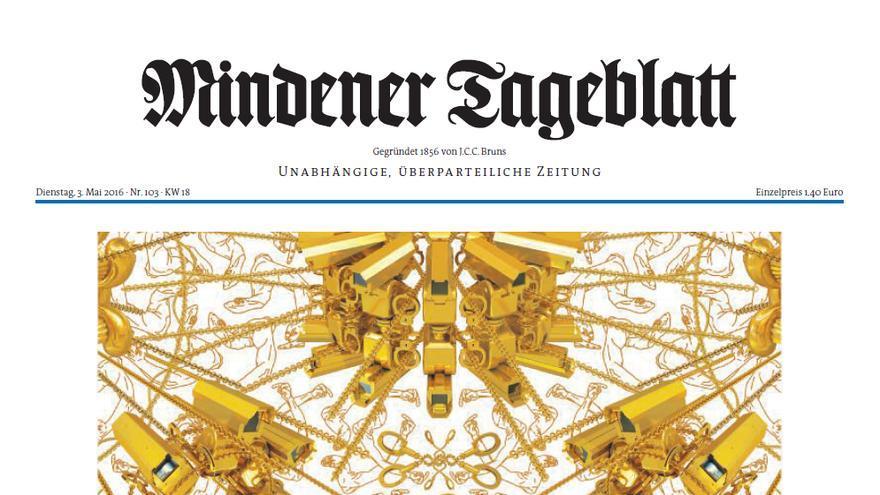 50 cabeceras alemanas abren hoy con esta portada del artista Ai Weiwei para celebrar el Día de la Libertad de Prensa
