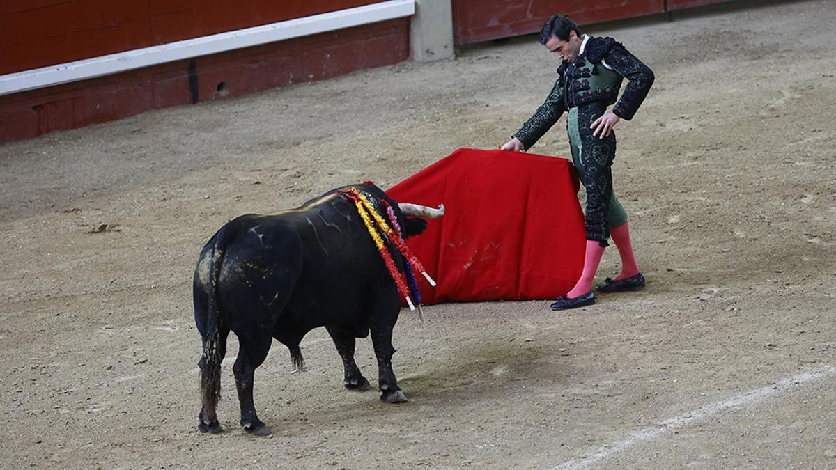 Juan Ortega durante un festejo taurino de este mes de mayo