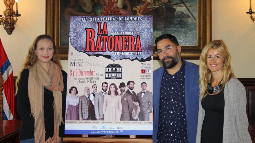 Acto de presentación de  la obra teatral 'La Ratonera'.