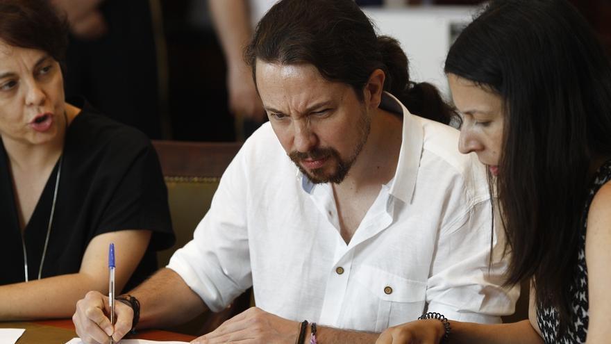 Pablo Iglesias, abierto a un pacto con el PSOE y otras fuerzas para evitar que el PP presida el Congreso