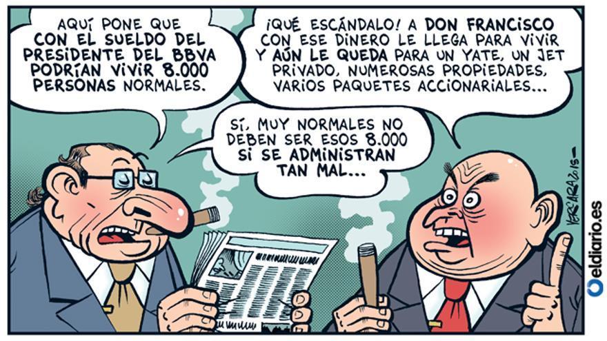 El sueldo de Francisco González