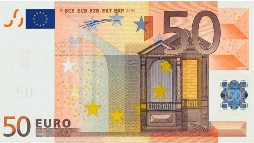 La Ertzaintza alerta de un incremento en la localización de billetes de 50 euros falsos