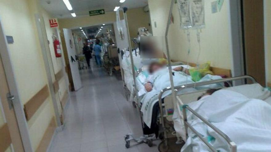 Imagen de las Urgencias de Toledo en diciembre de 2013 publicada por eldiarioclm.es