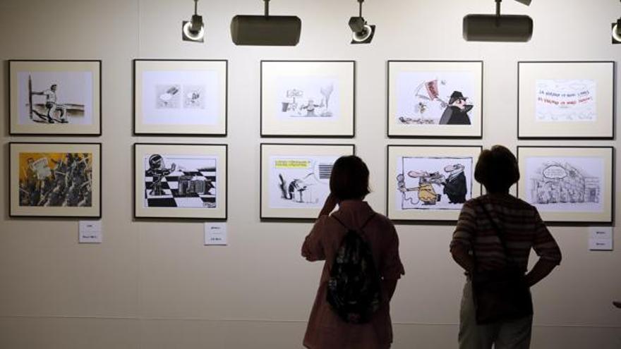 Exposición de RSF 'Un grito de libertad. Humoristas gráficos por la libertad de prensa'.