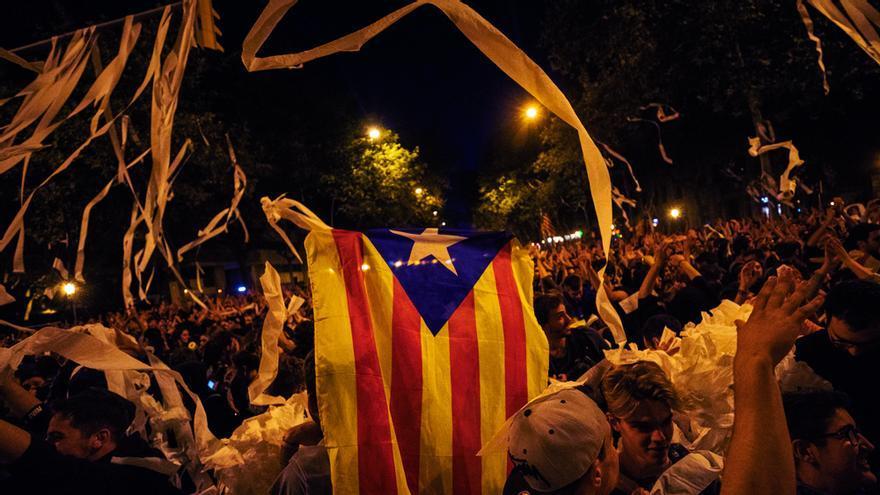Imagen de las protestas en Barcelona