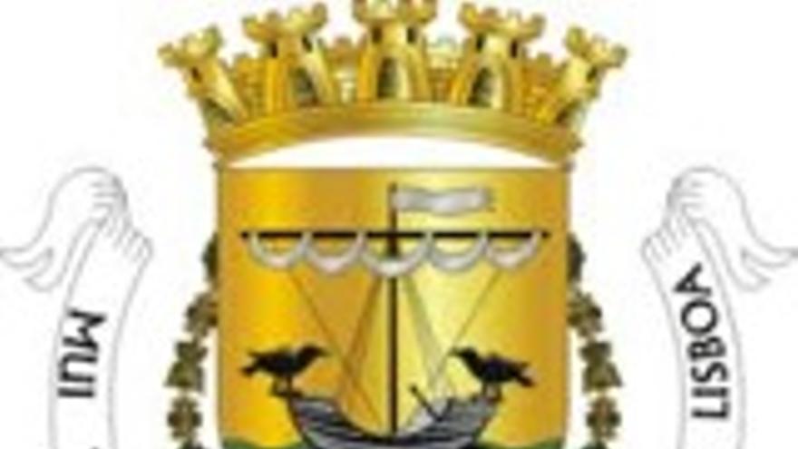 L'escut de Lisboa, amb els dos corbs que fan referència a la llegenda de Sant Vicent Màrtir.