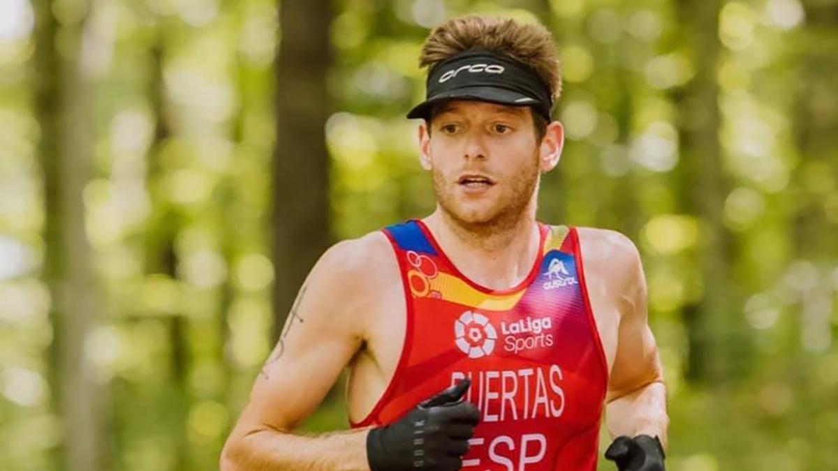 Camilo Puertas durante una prueba con España