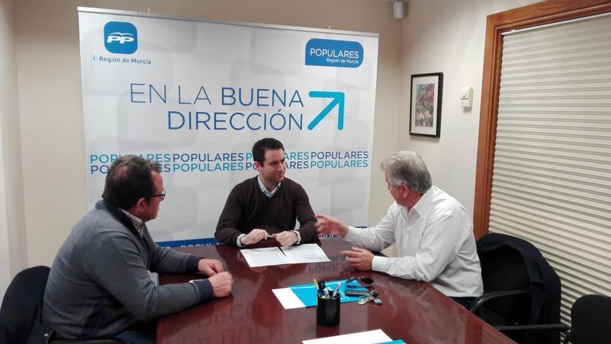 Reunión Teodoro García, representantes organizaciones agrarias